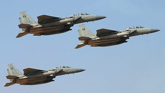 Jet fighters of the Saudi Royal air force.